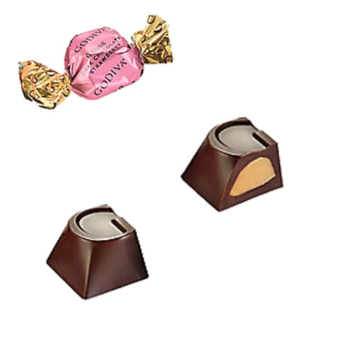 NEW! Godiva Strawberry Dark Chocolate G-Cube