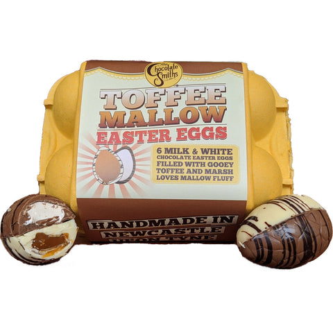 Chocolate Smiths Toffee & Mallow Easter Eggs in Egg Box (6)
