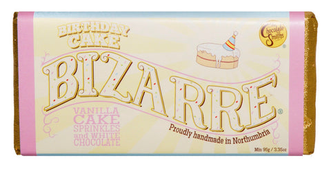 Vanilla Shortbread Birthday Cake White Chocolate Bizarre Bar