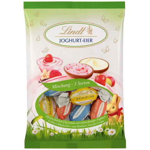 Lindt Mixed Yoghurt Filled Easter Eggs (14 Eggs - 140g Bag) 3 varieties