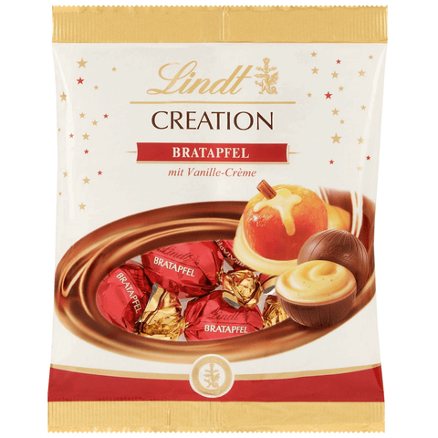 Lindt Creation Baked Apple milk chocolate ball 90g bag UK