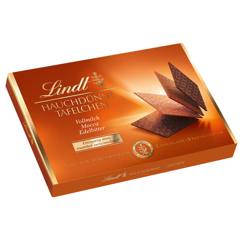 Lindt Wafer Thin Chocolates Milk Dark & Mocha (125g)