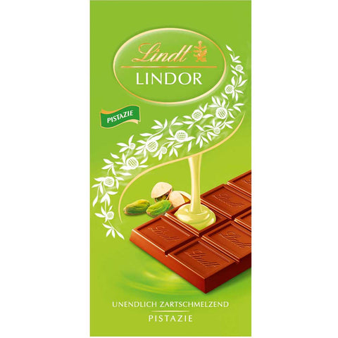 Lindt Lindor - Pistachio Milk Chocolate - 100g Bar