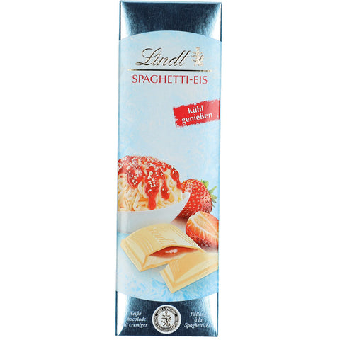 Lindt Strawberry Cream White Chocolate Bar (100g)
