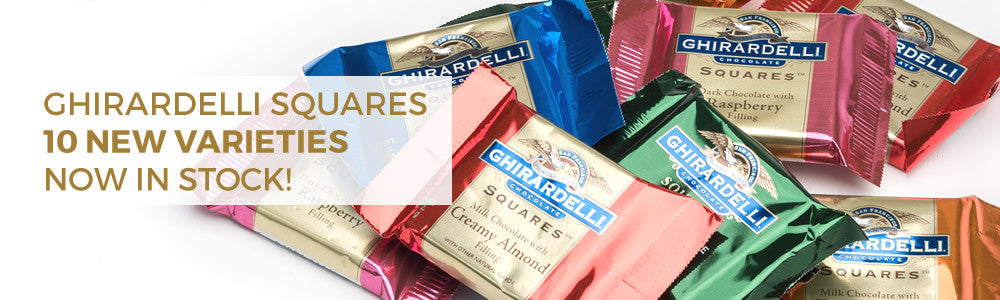 Ghirardelli Squares 10 new varieties now in stock