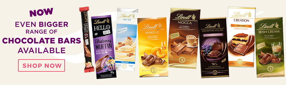 Lindt and Ghirardelli chocolate bars - Now in stock!