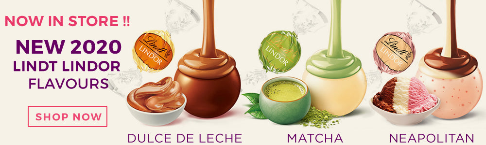 New Lindt Lindor Matcha, Dulce de Leche, Neapolitan chocolates, buy now.