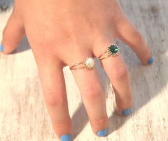 Emerald Stacking Ring Green Emerald jewelry