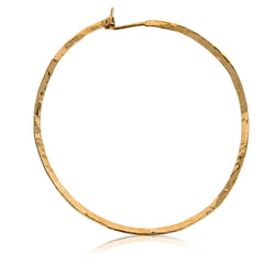 14K Gold Filled Hammered Hoop Earrings,2.5 inch Hoop