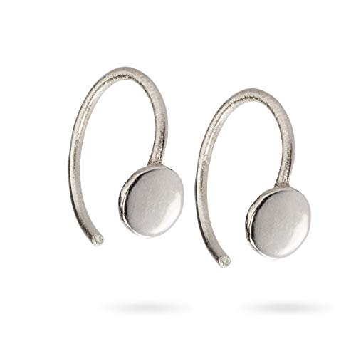 Huggie Hoop Earring Tiny Circle Open Hugging Hoops Threader Earrings in Sterling Silver Mini Hug Earrings