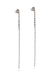 925 Sterling Silver Chain Earrings Stud Dangle Drop for Women Girl Length 3 inch