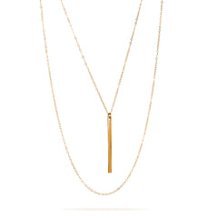 Vertical Gold Filled Bar Necklace
