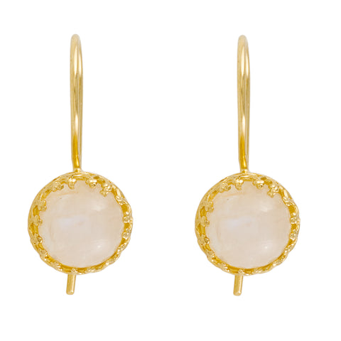 gold moonstone earrings