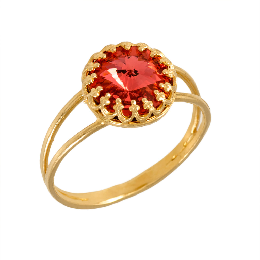 Gold red ring