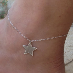 Sterling Silver Star Ankle bracelet