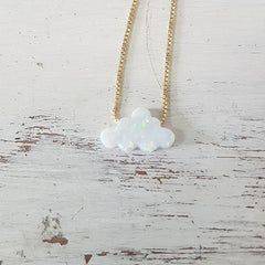 White Opal Cloud necklace
