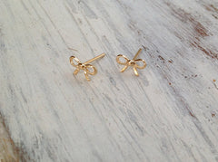 Bow tie ribbon studs women girl jewelry earrings