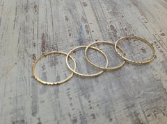 Set of Gold thin rings