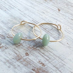 green mint earrings
