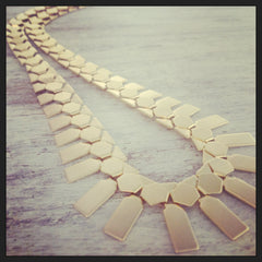 Gold Statement Necklace Chunky Chain link necklace