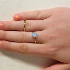 Opal ring blue opal jewelry October birthstone 14k gold filled ring