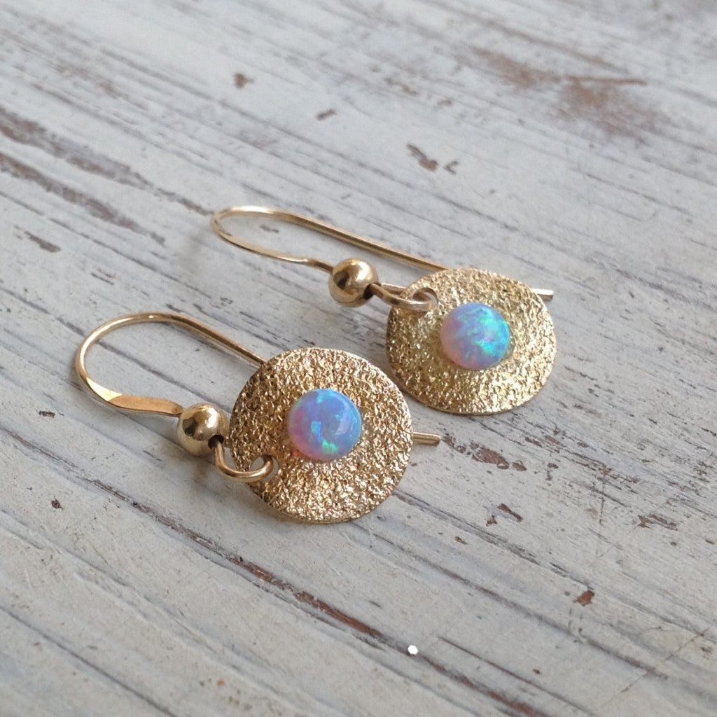 opal earrings