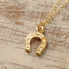 gold filled horseshoe necklace