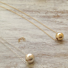 Gold Silver ball naecklace