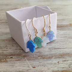 dangle opal earrings