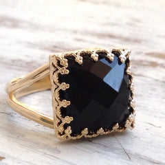 Onyx Ring gold