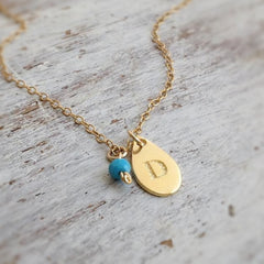 hand stamped disc necklace
