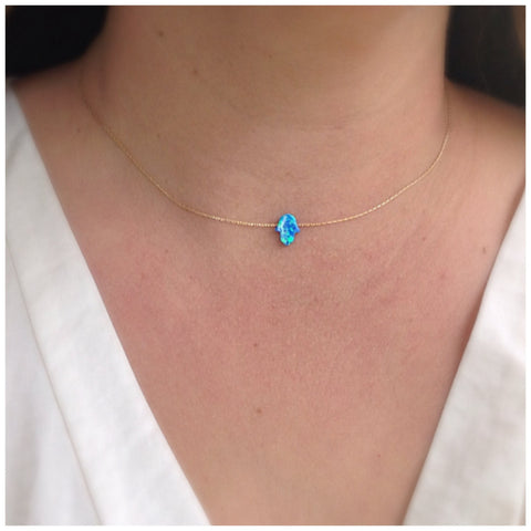 SALE Blue Opal necklace