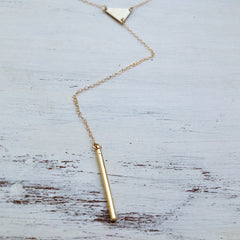 Y drop necklace