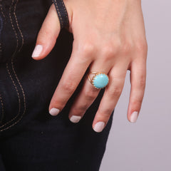 Gold Statement Turquoise Ring