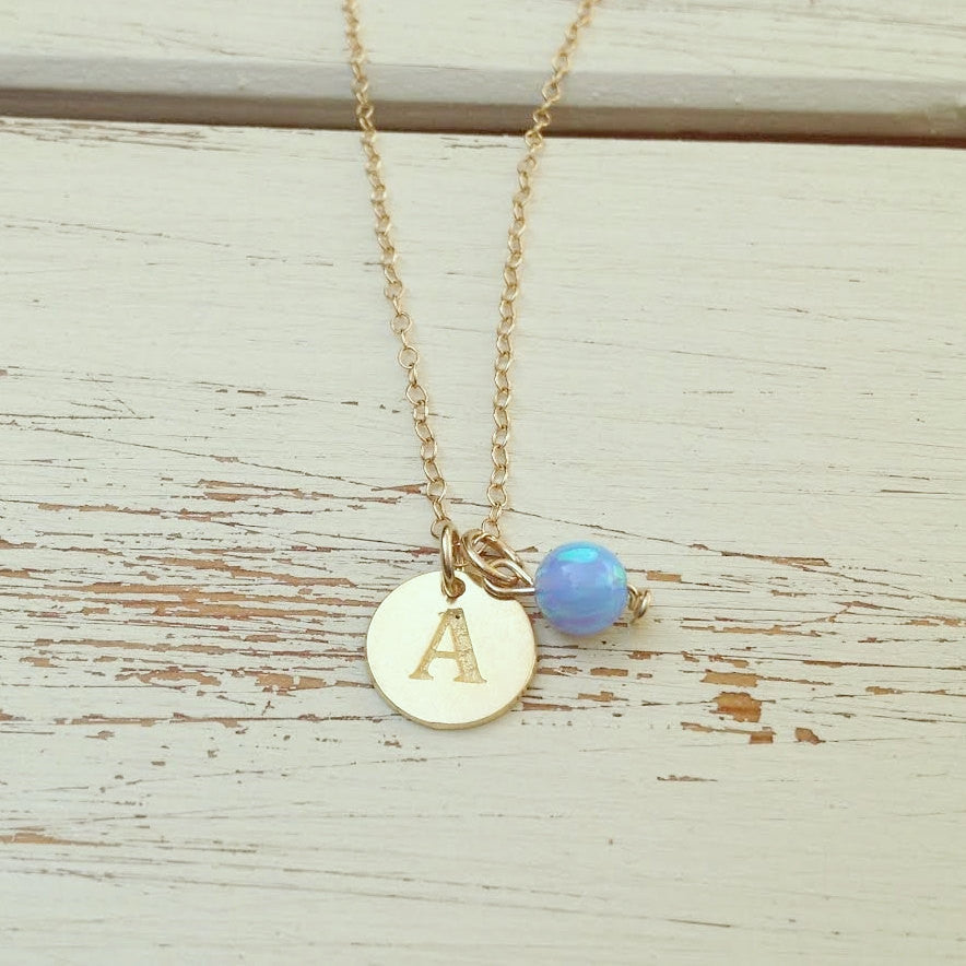 Personalized Opal Necklace