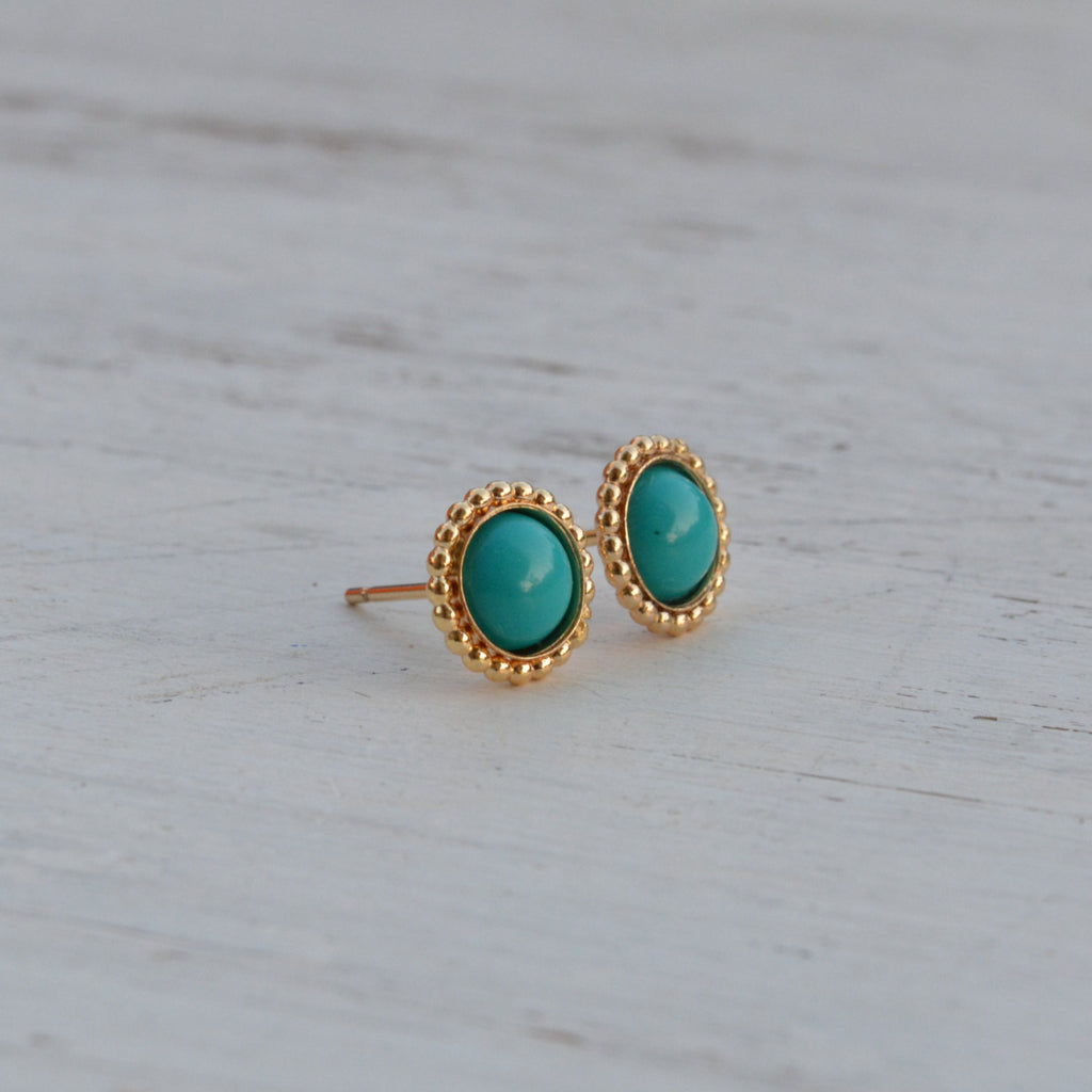 Turquoise earrings stud