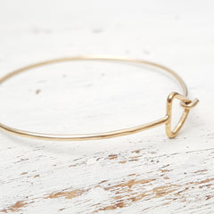Triangle Hook Bangle Bracelet Gold Filled Geometric Hook