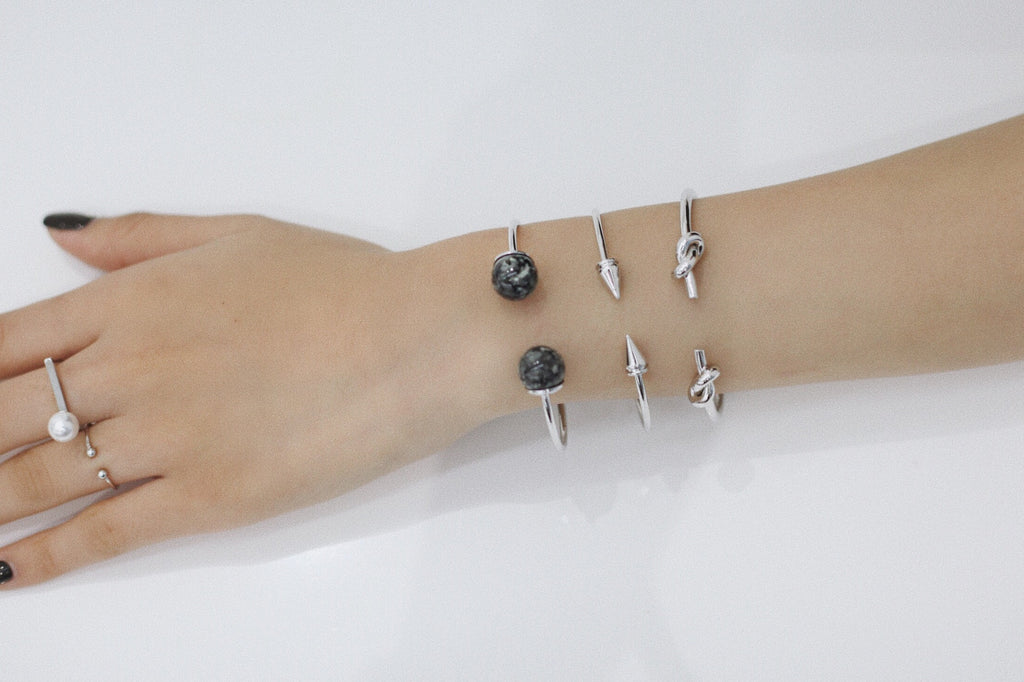 Silver Bracelets Arm Party Layering