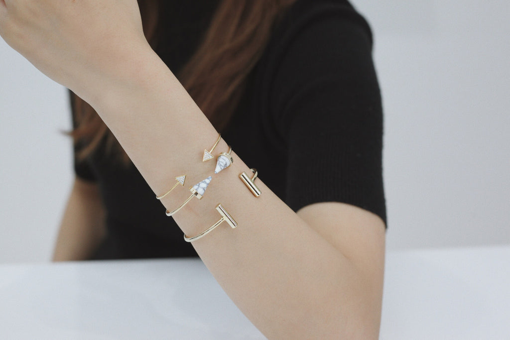 Marble Cone Bangle