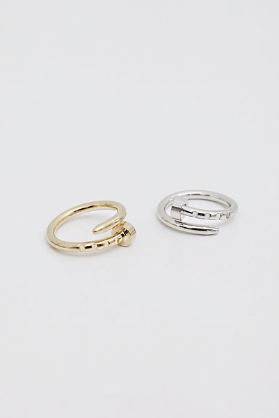Min&Mia - Twisted Nail - Nail Ring