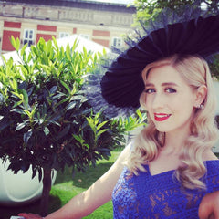 Folding coolie - perfect millinery for Royal Ascot