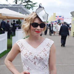 The Season Hats - leather 'Ziva' hat at Royal Ascot Races