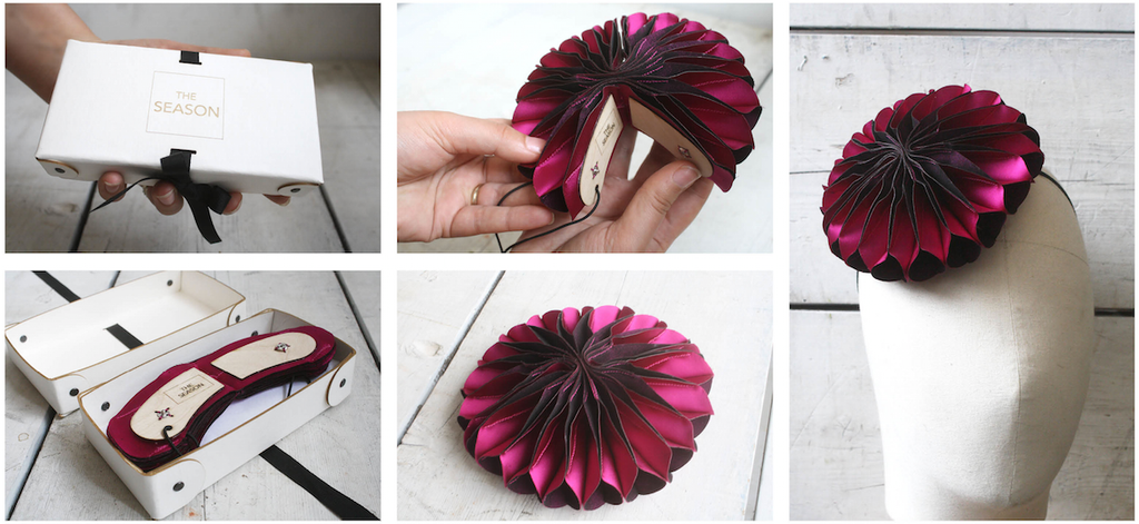 Hats that fold and unfold by The Season Hats London Milliners