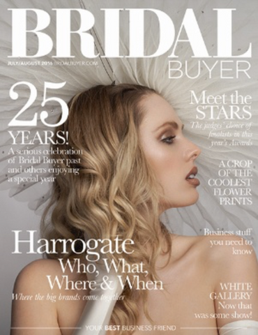 The Season  Hats cover of Bridal Buyer Magazine