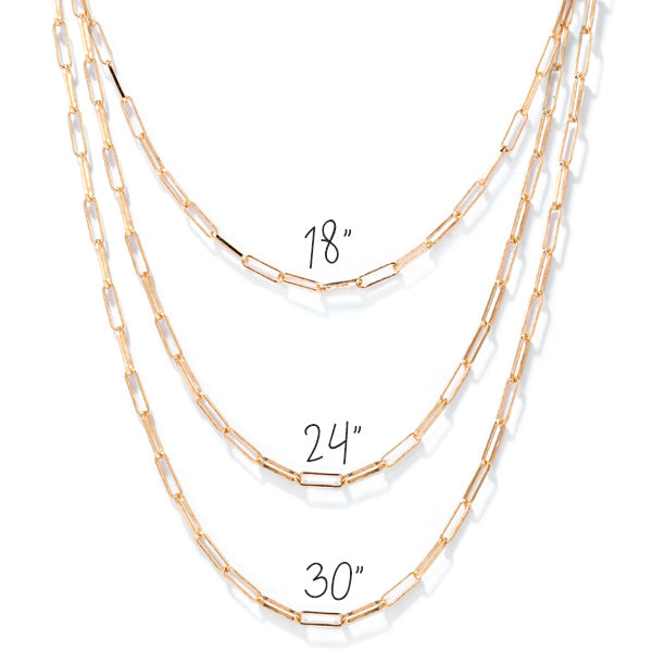 Gold Filled Chain: 18