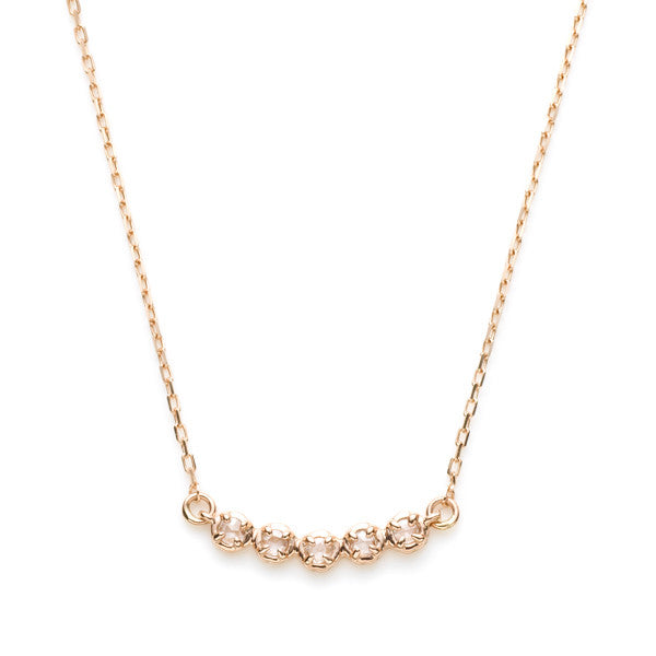 Five Roses Crescent Necklace