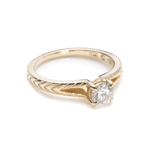 Chevron Promise Ring
