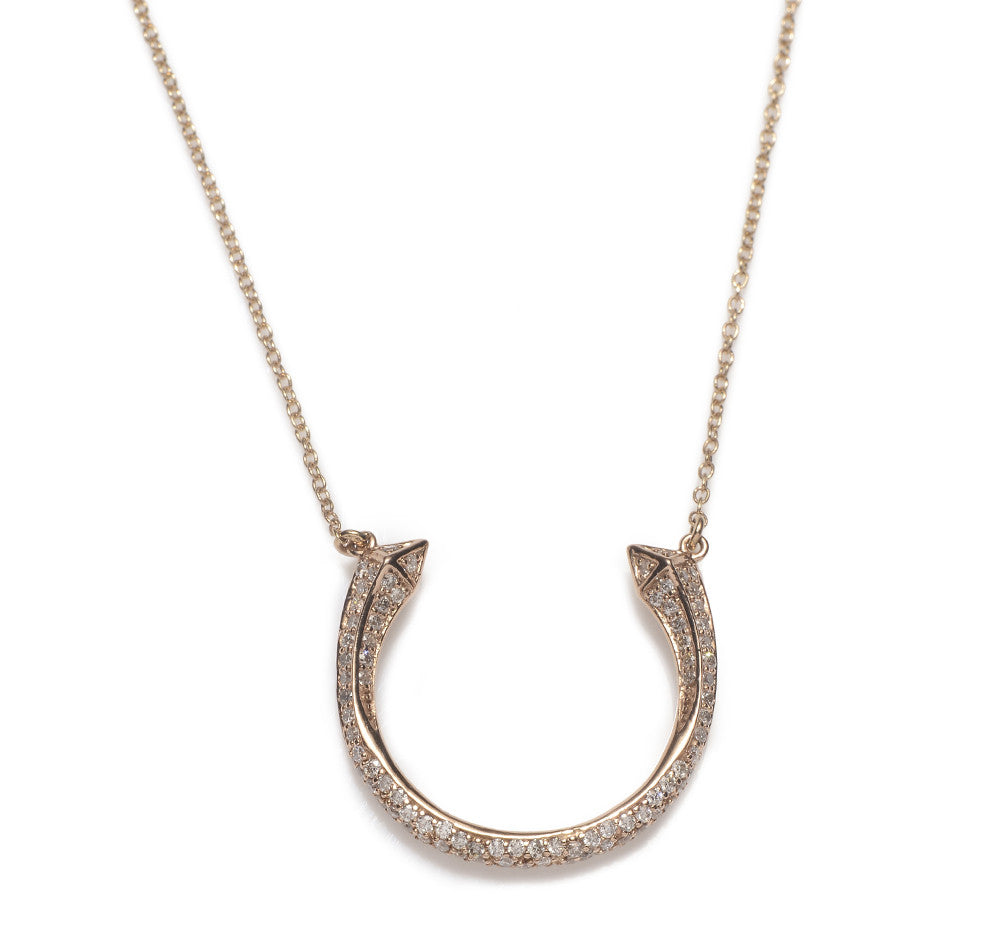 Diamond Open Spike Necklace