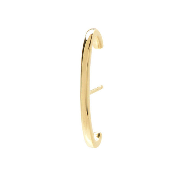 Single Solid Line Ear Cuff- 14K Yellow Gold
