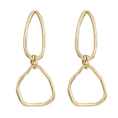 Double O Earrings- 14K Gold Vermeil